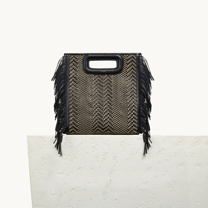 Leather M bag with braiding - 50% off and more - MAJE