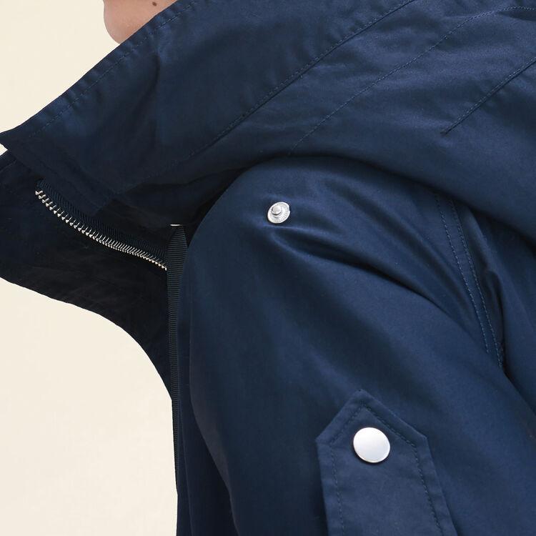 Long parka : Coats color Navy