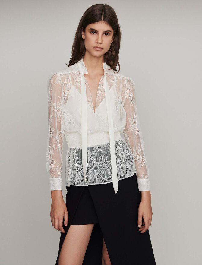 Smocked lace top - -50% - MAJE