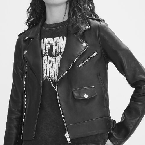 Bonded leather jacket : Jackets color Black 210