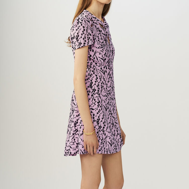Printed silk dress : Dresses color PRINTED