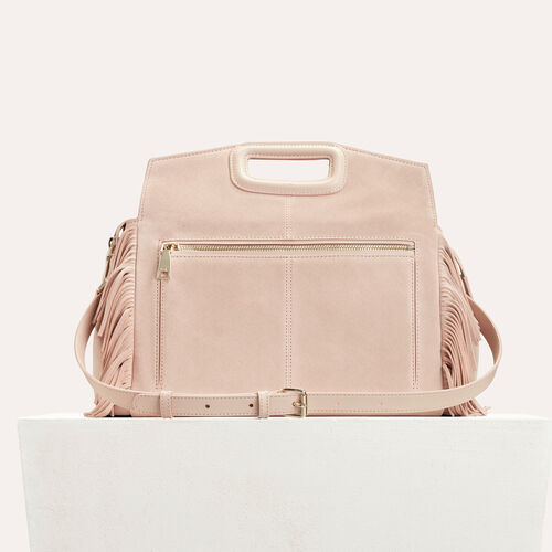 Suede shoulder bag : Accessoires color PINK DUNE