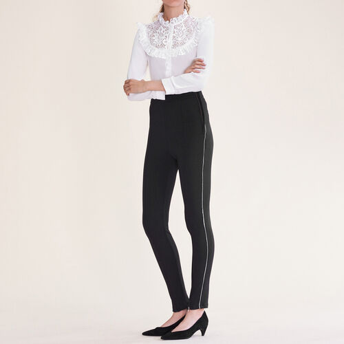 Leggings with several zips : Trousers & Jeans color Black 210