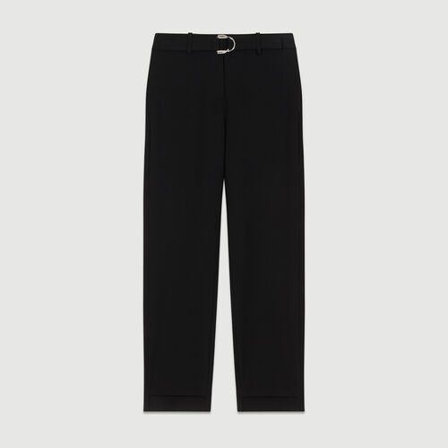 Straight cut trousers : Trousers color Black 210