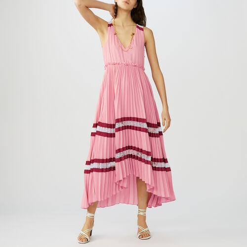 Long pleated dress : Dresses color Multico