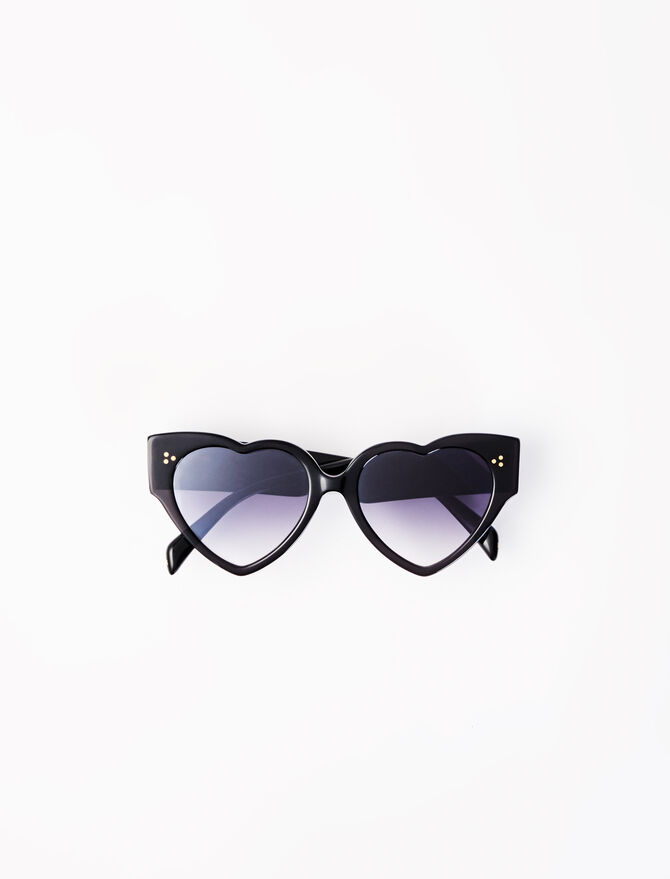 Acetate heart-shaped sunglasses -  - MAJE
