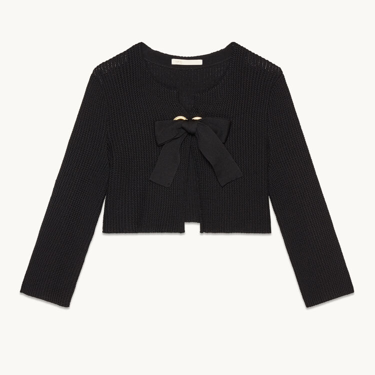 Short cardigan : Sweaters & Cardigans color Black 210