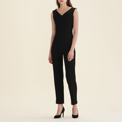 Sleeveless crêpe jumpsuit - Trousers - MAJE