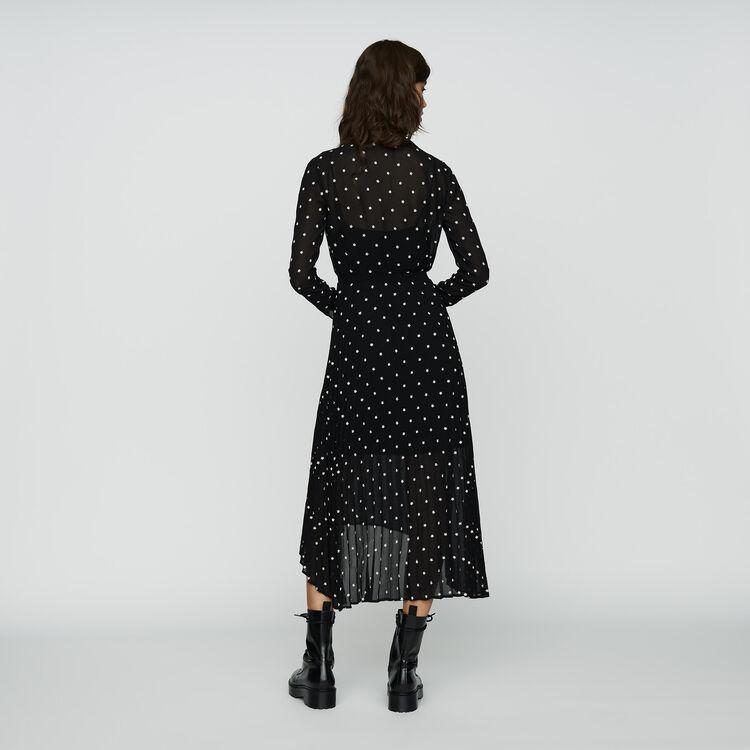 383e685a7 RIVOLI Pleated embroidered dress - Dresses - Maje.com