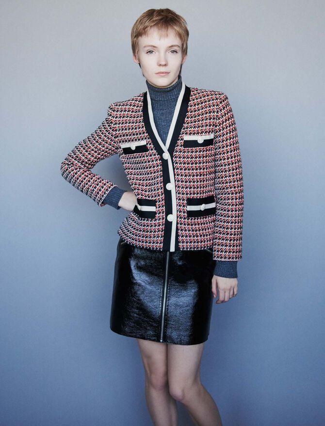 Contrast tweed-style jacket - Jackets & Blazers - MAJE