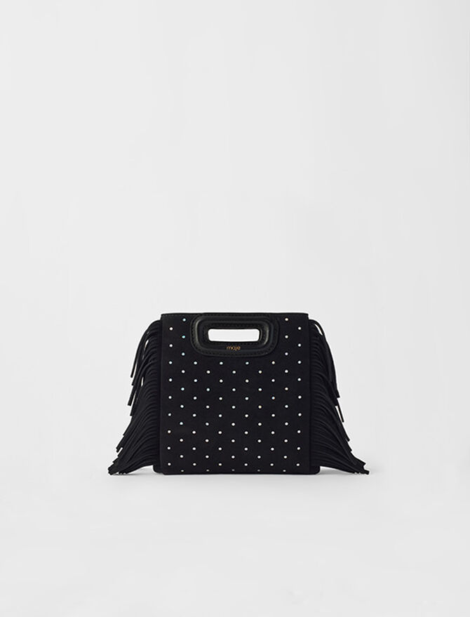 Suede Mini M bag with round studs - M bags - MAJE