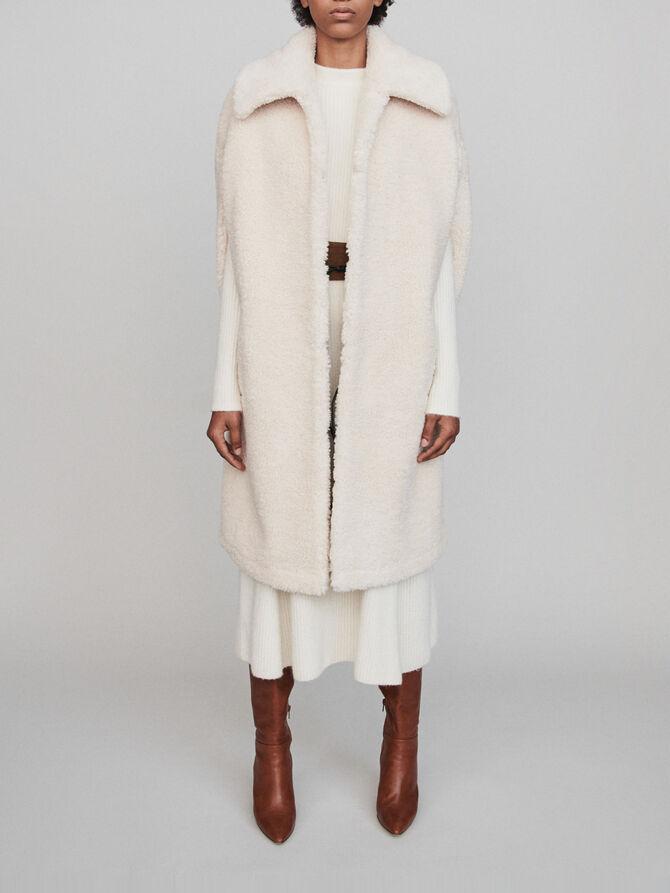 Faux fur cape coat - Best Sellers - MAJE