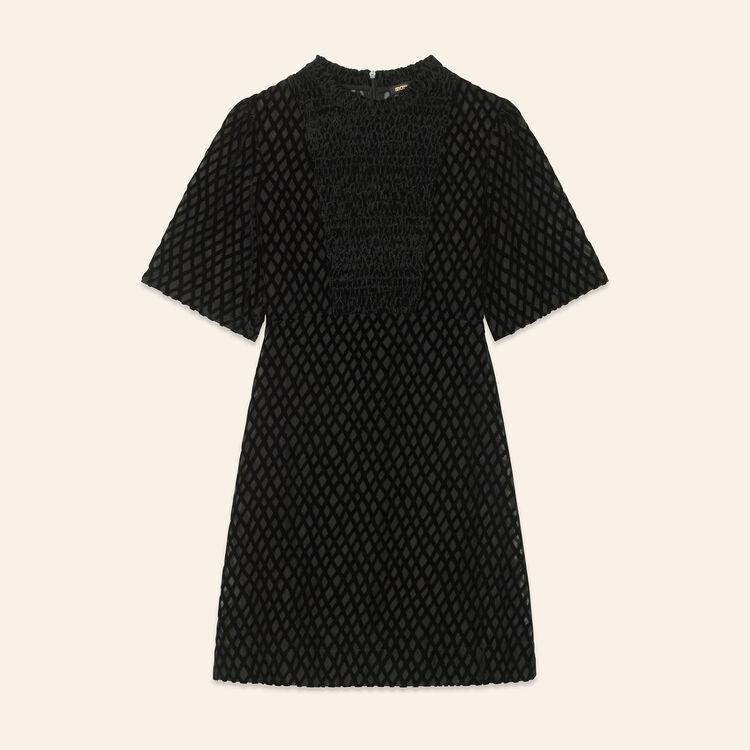 Short dress with front panel : Dresses color Black 210
