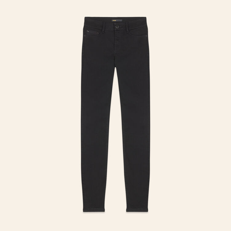 Cotton slim jeans : Trousers & Jeans color Black 210