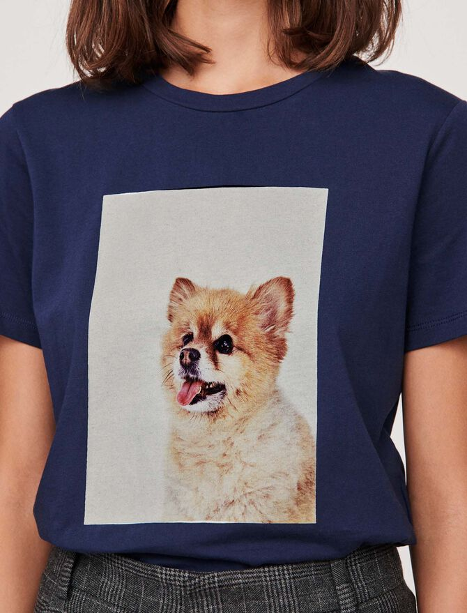 """T-shirt with """"chien"""" print - Presoldes-50_BE - MAJE"""