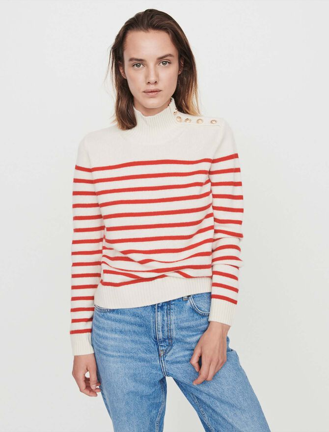 Sailor-style cashmere sweater - Pullovers & Cardigans - MAJE