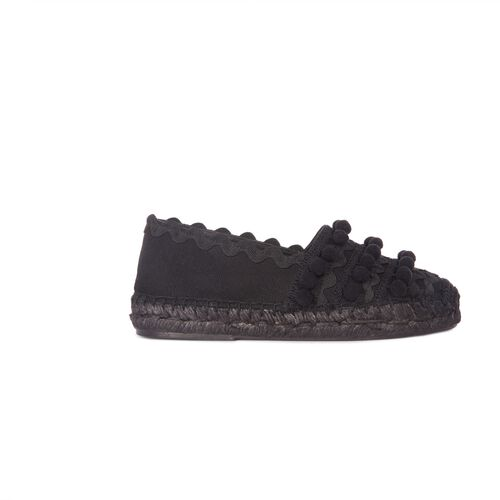 Flat espadrilles with tassels : Accessories color Black 210
