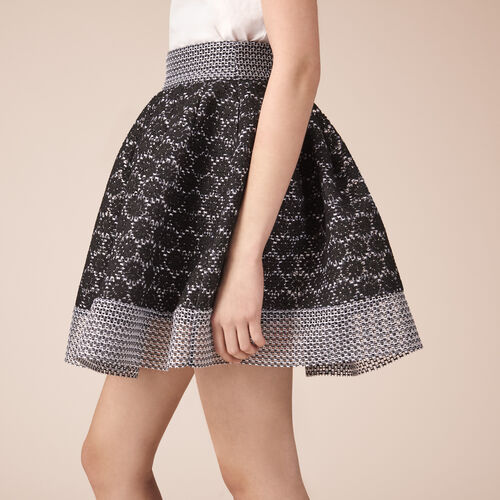 Basket lace skater skirt : Skirts & Shorts color Black 210