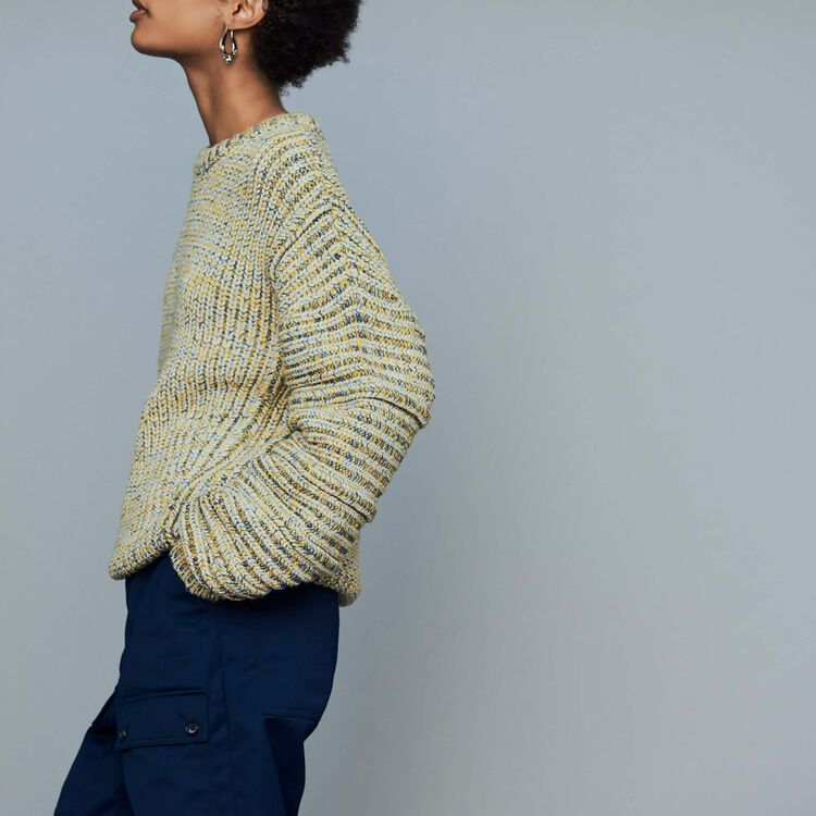 Oversize sweater in novelty knit : Knitwear color Multi-Coloured