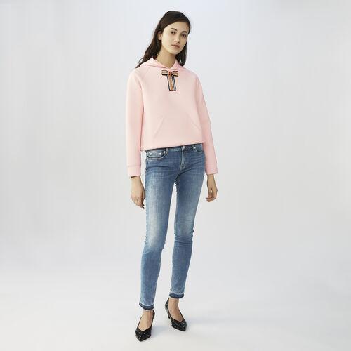 Faded skinny jeans : Jeans color Denim