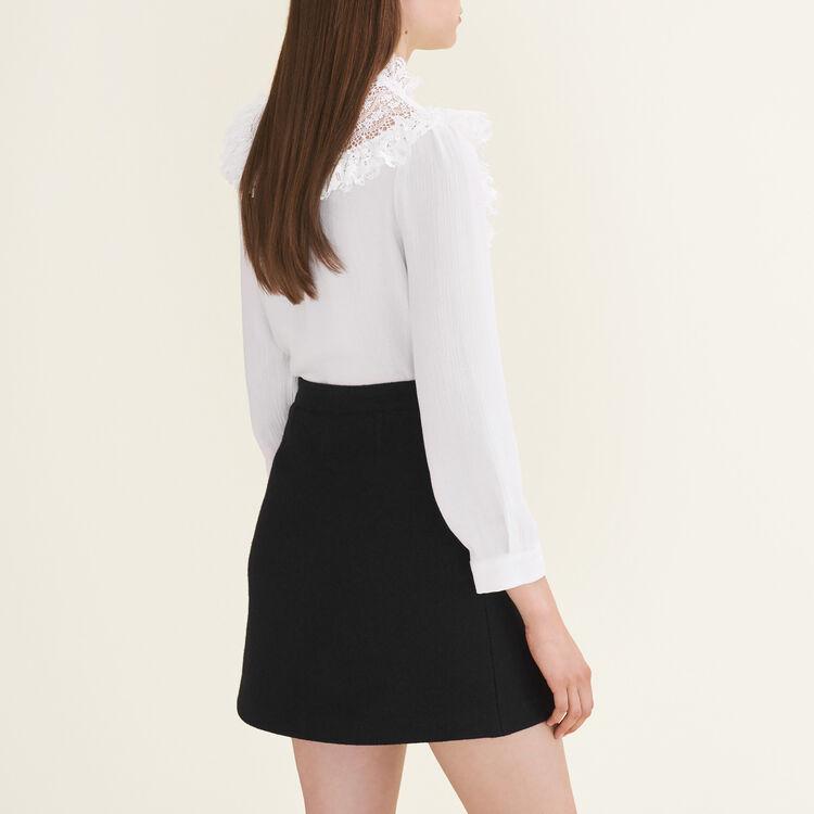 Wraparound skirt : Skirts & Shorts color Black 210