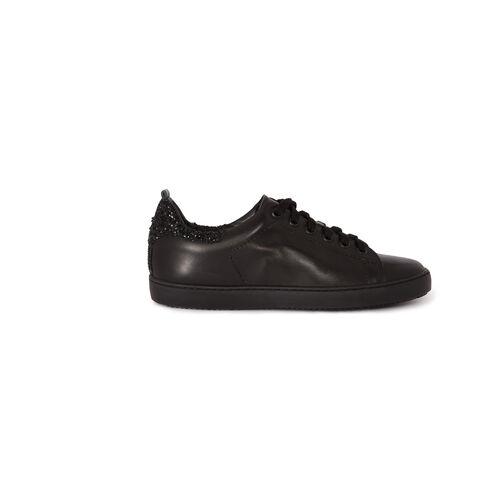 Leather trainers with diamanté : Accessories color Black 210