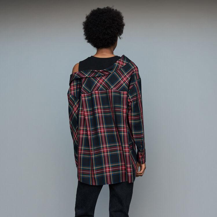 Deconstructured plaid skirt : Shirts color CARREAUX