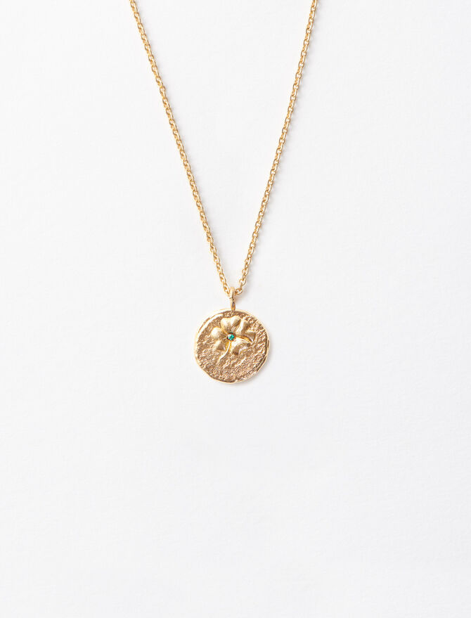 """""""Ma Chance"""" gold-plated necklace - Sentimental medals - MAJE"""