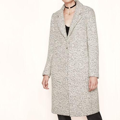 Long bouclé coat : Coats color China Grey