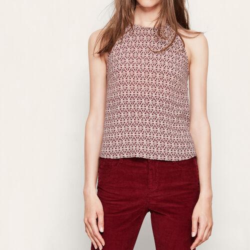 Printed backless top : Tops color PRINTED