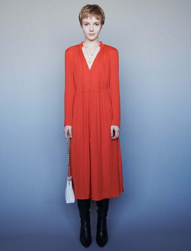 Dress with drawstring waist -  - MAJE