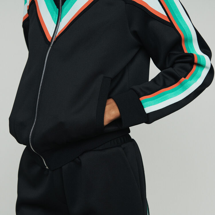 Zipped sport jacket : Coats & Jackets color Black 210