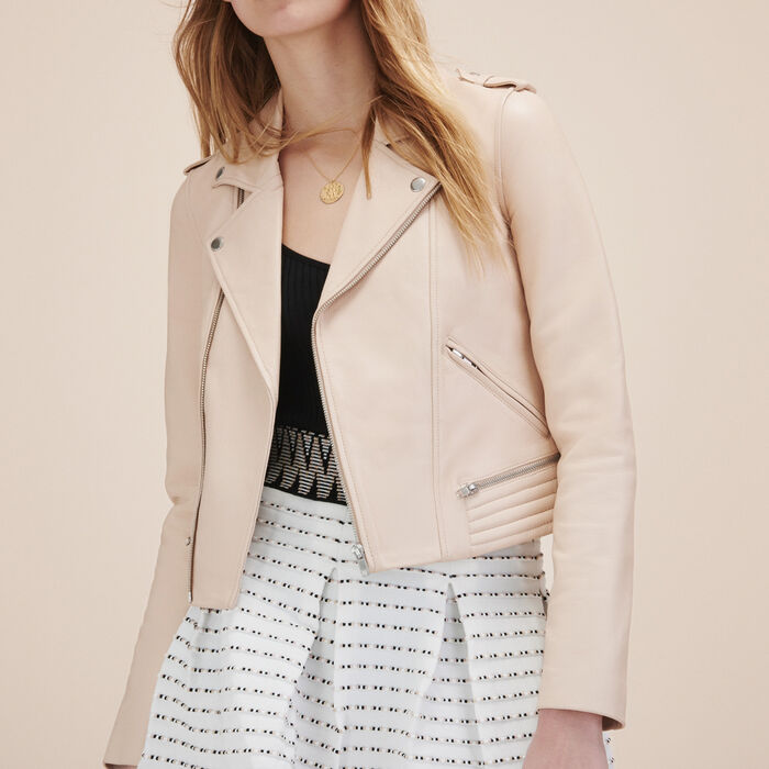 Leather jacket - Tout Voir - MAJE