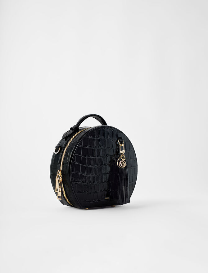 Hatbox bag in embossed leather - Pixie's story - MAJE