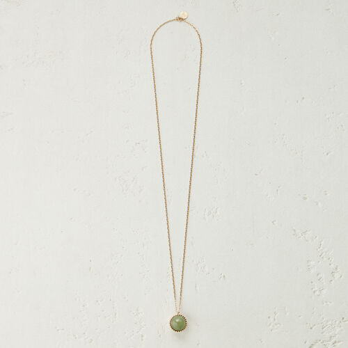Necklace with natural stone : Jewelry color Off White