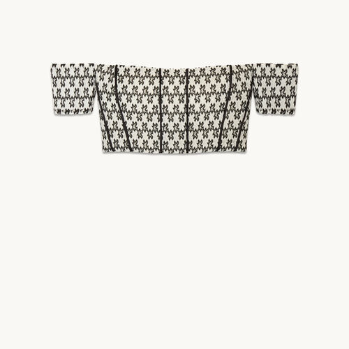 Cropped off-the-shoulder top - Tops - MAJE
