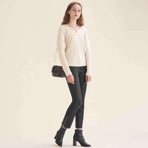 Loose cashmere jumper : Knitwear color Nude