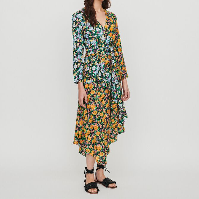 Long dress in floral print - See all - MAJE