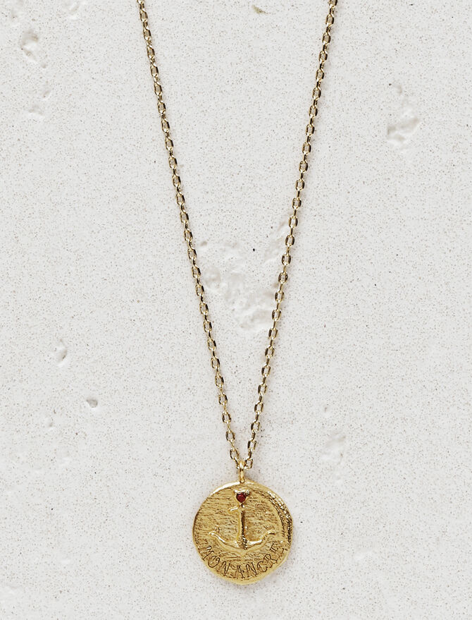 """Necklace with medallion """"Mon ancre"""" -  - MAJE"""