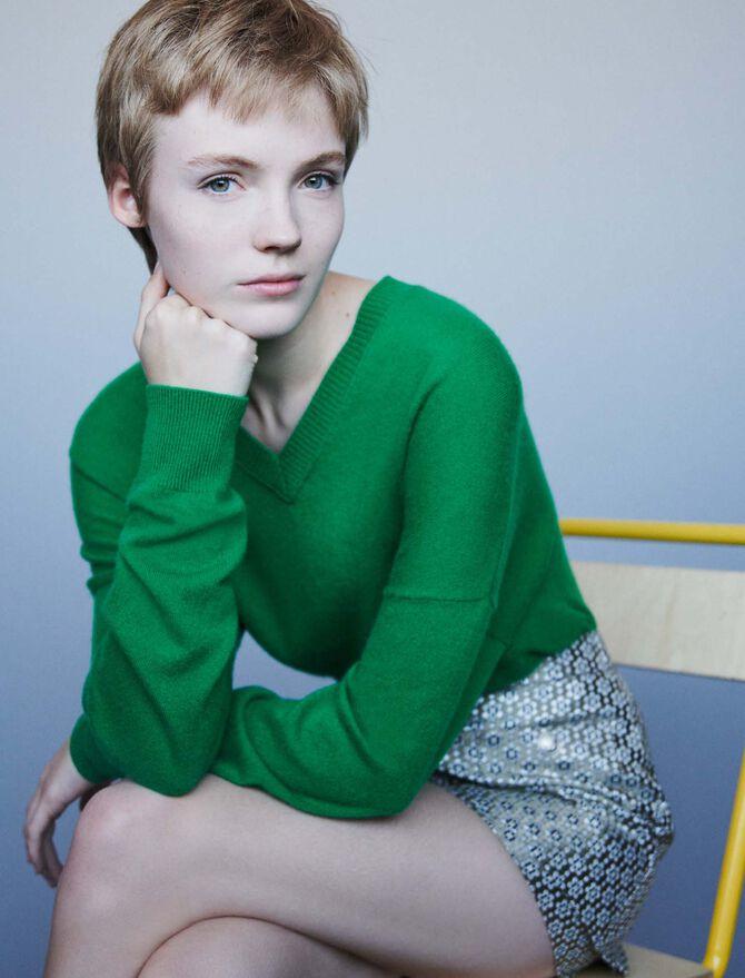 Cashmere V-neck sweater - Pullovers & Cardigans - MAJE