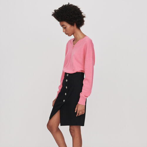 Pencil skirt with buttons : Skirts & Shorts color Black