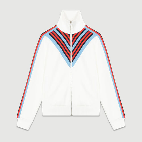 Tracksuit jacket : Knitwear color WHITE