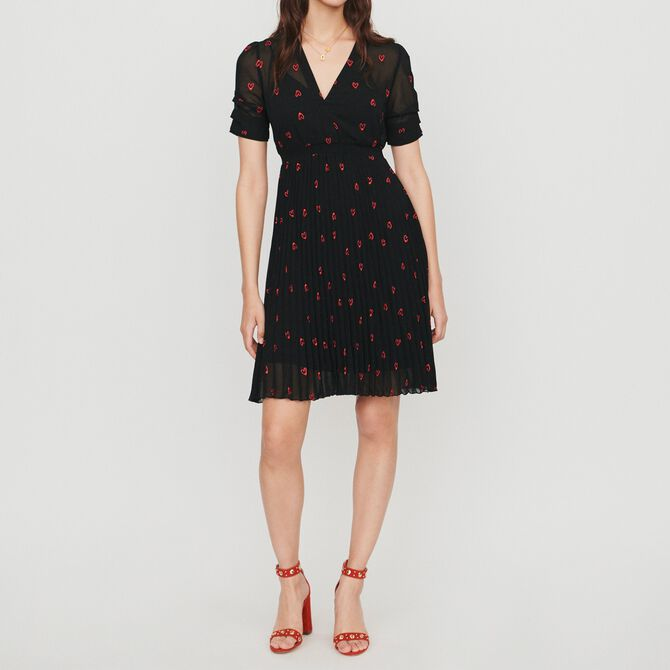 Dress with hearts embroidery - See all - MAJE