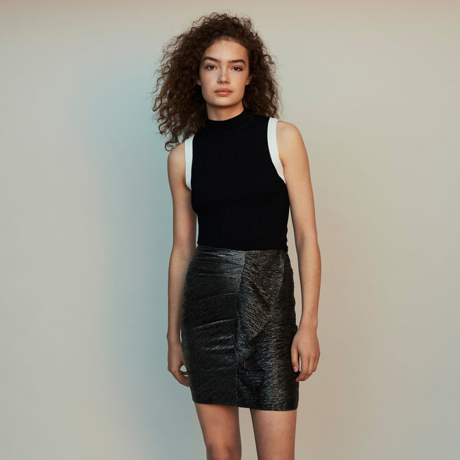 Lurex draped skirt with ruffles - staff private sale 20 - MAJE