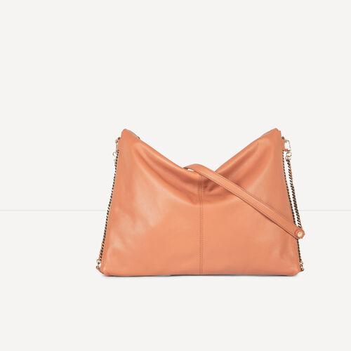 Leather shoulder bag : Accessories color Camel