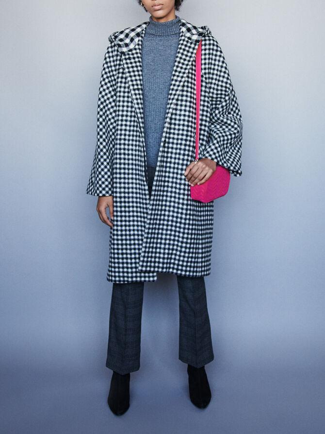 Wool plaid coat - Jackets & Blazers - MAJE