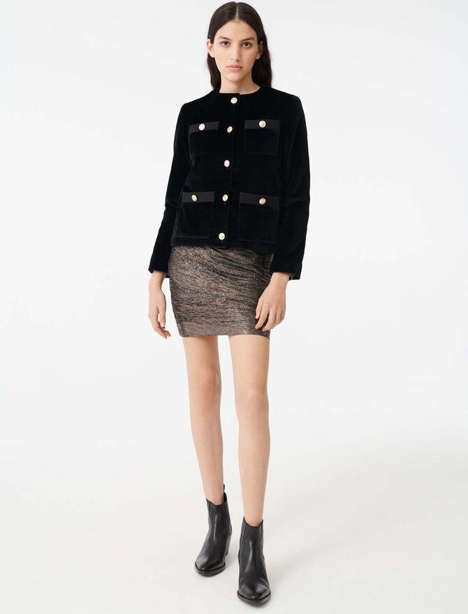 Velvet jacket with 4 pockets - Jackets & Blazers - MAJE