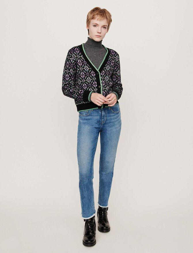 Jacquard cardigan - Pullovers & Cardigans - MAJE
