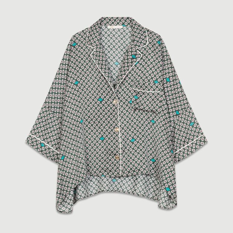 Printed satin shirt : Shirts color PRINTED