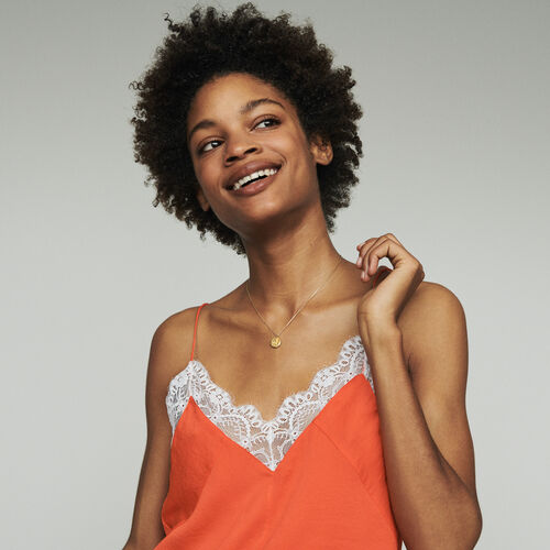 Lace camisole : Tops & Shirts color Orange